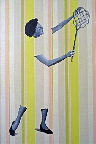 12. Bernadette with Rug Beater, 90x60 cm