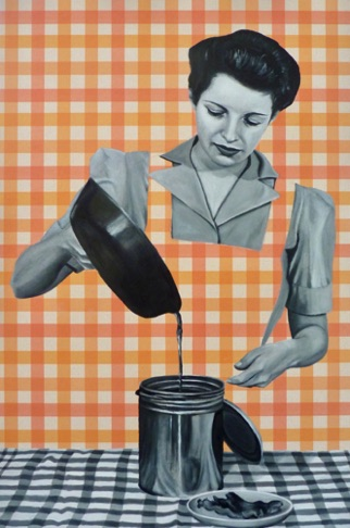 54. Ruth pouring Oil, 60x40 cm
